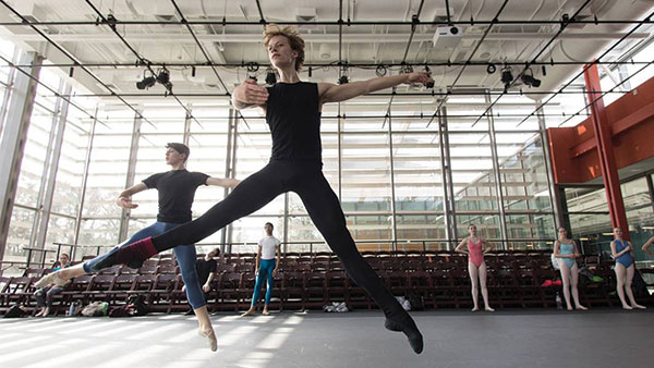 American Ballet Theatre practices in the Ruby